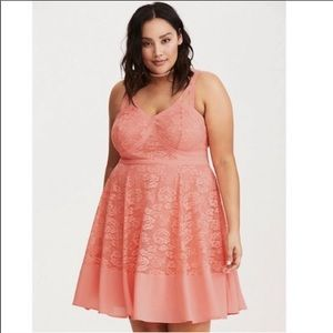 Torrid | Insider Collection Peach Lace Dress 20